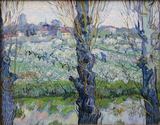 "Vincent Van Gogh ""View of Arles, Flowering Orchards"" (1889)."