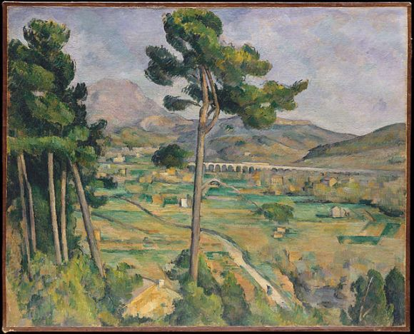 """Paul Cezanne """"Mont Sainte-Victoire and the Viaduct of the Arc River Valley (1885-1887)."""