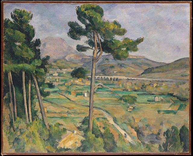 "Paul Cezanne ""Mont Sainte-Victoire and the Viaduct of the Arc River Valley (1885-1887)."