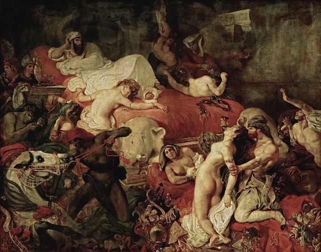 """Eugene Delacroix """"Death of Sardanapale"""" (1827)."""