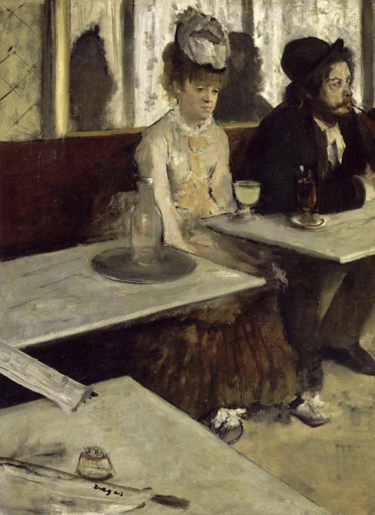 """Edgar Degas """"l'Absinthe"""" (1876)."""