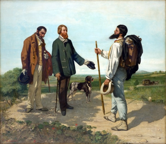 "Gustave Courbet ""Bonjour, Monsieur Courbet"" (1854)."