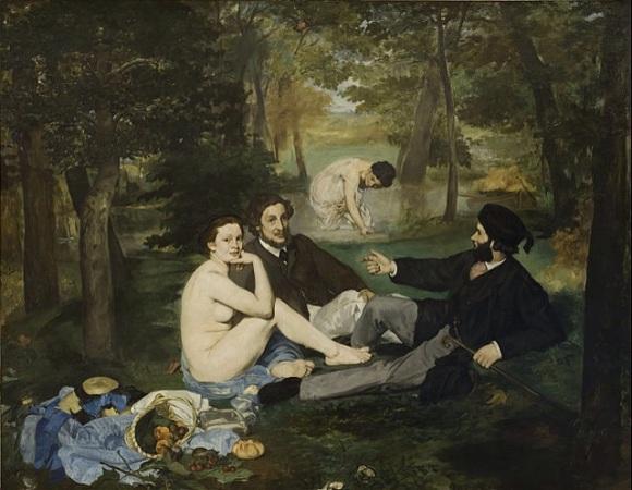 "Edouard Manet, ""Breakfast Luncheon on the Grass"" (1862-1863)."