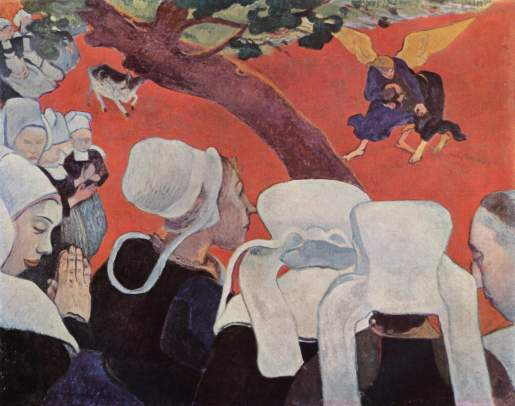 "Paul Gauguin ""Vision after the sermon"" (1888)."