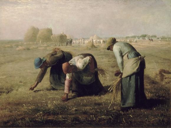 "Jean-François Millet ""The Gleaners"" (1857)."