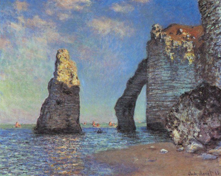 "Claude Monet ""The Cliffs at Etretat"" (1885)."