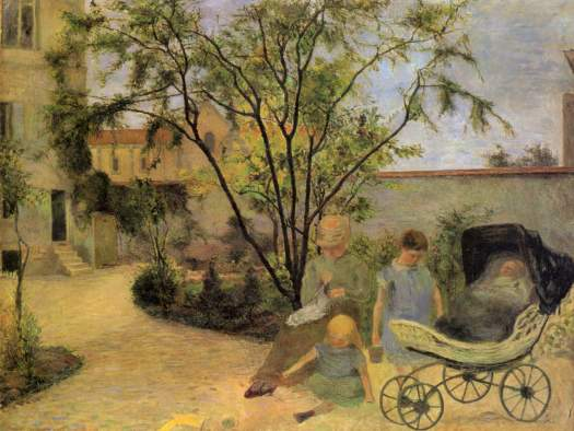 "Paul Gauguin ""Garden in Vaugirard"" (1881)."