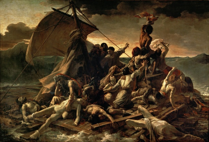 "Theodore Gericault ""The Raft of Medusa"" (1818-1819)."