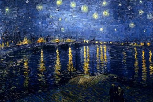 "Vincent Van Gogh ""Starry Night Over the Rhone"" (1888)."