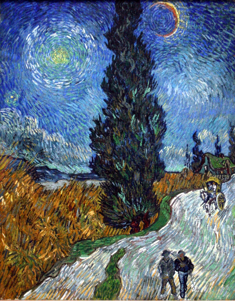 "Vincent Van Gogh ""Country road in Provence by night"" (1889-1890)."
