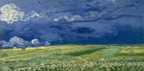 "Vincent Van Gogh ""Wheat fields under thunder clouds"" (1890)."