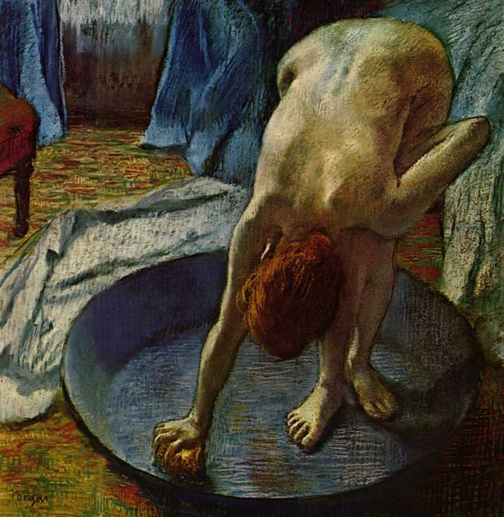 "Edgar Degas ""Woman in Bath"" (1886)."