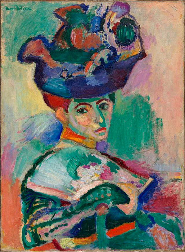 "Henri Matisse ""Woman with a Hat"" (1905)."