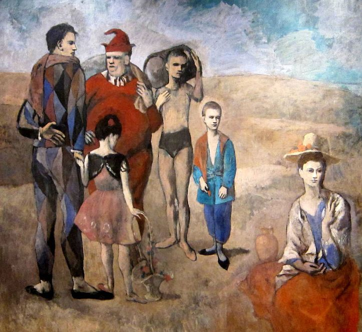 """Pablo Picasso """"Family of Saltimbanques"""" (1905)."""