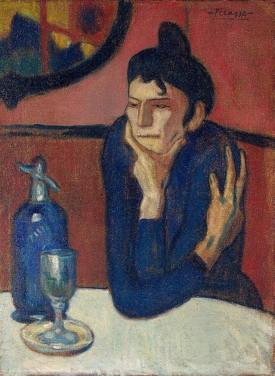 """Pablo Picasso """"Absinthe Drinker"""" (1901-1902)."""