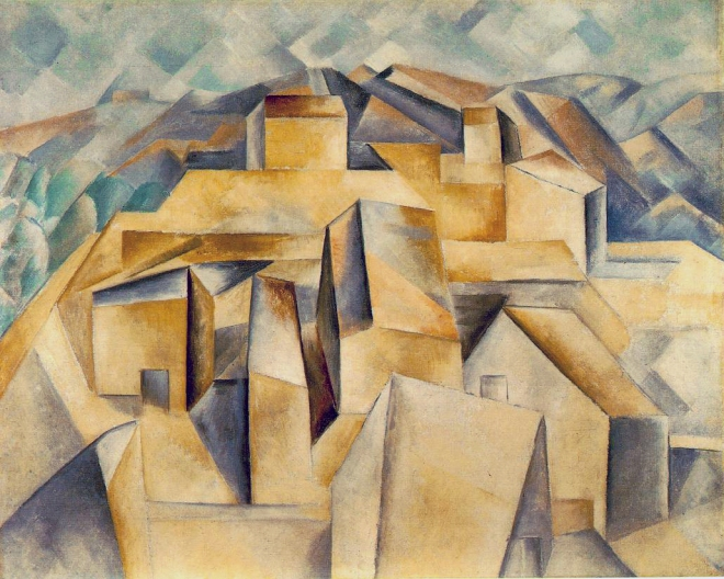 "Pablo Picasso ""Houses on the Hill"" (1909)."