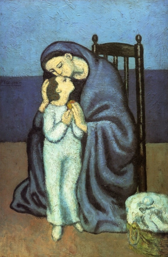 "Pablo Picasso ""Motherhood"" (1901)."