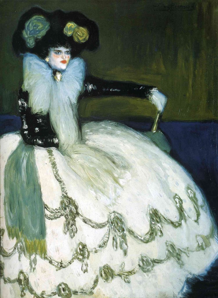 """Pablo Picasso """"Woman dressed in blue"""" (1901)."""