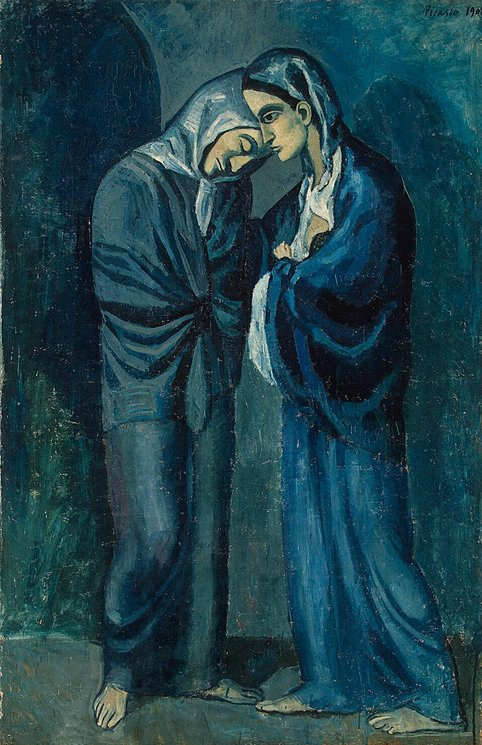 "Pablo Picasso ""The Visit (Two Sisters)"" (1902)."
