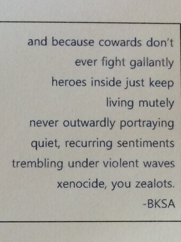 and because cowards